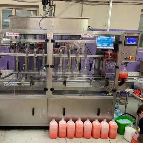 Liquid Soap Filling Line in Thailand